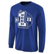 Men's Duke Blue Duke Blue Devils 2015 NCAA Men's Basketball Tournament #1 Seed Long Sleeve T-Shirt