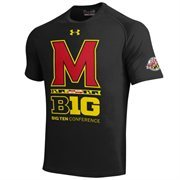 Maryland Terrapins Under Armour 2014 Big Ten Inaugural Season Tech Performance T-Shirt - Black
