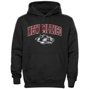 Mens Black New Mexico Lobos Arch Over Logo Hoodie