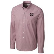 Mens Mississippi State Bulldogs Cutter & Buck Maroon Easy Care Gingham Button-Down Shirt