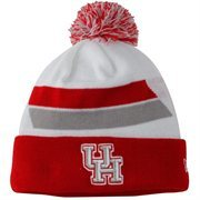 Mens Houston Cougars New Era Red Team Hook Up Cuffed Knit Hat