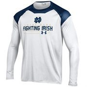 Notre Dame Fighting Irish Under Armour Perpetual Long Sleeve T-Shirt - White/Navy Blue