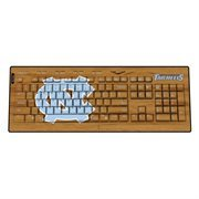 North Carolina Tar Heels (UNC) USB Wireless Keyboard-