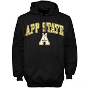 Mens Black Appalachian State Mountaineers Arch Over Logo Hoodie