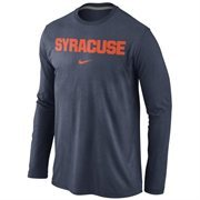 Syracuse Orange Nike Wordmark Long Sleeve T-Shirt - Navy Blue