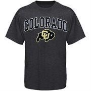 Mens Charcoal Colorado Buffaloes Arch Over Logo T-Shirt