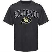 Mens Charcoal Colorado Buffaloes Arch Over Logo T-Shirt