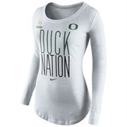 Women's Oregon Ducks Nike Tan 2015 College Football Playoff Bound Long Sleeve T-Shirt