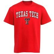 Mens Scarlet Texas Tech Red Raiders Arch Over Logo T-Shirt