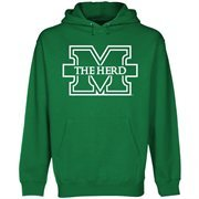 Mens Marshall Thundering Herd Kelly Green Core Logo Premium Hoodie