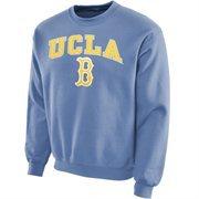 Mens UCLA Bruins New Agenda True Blue New Logo Bold Arch Crew Neck Sweatshirt