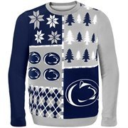 Penn State Nittany Lions Navy Blue Busy Block Ugly Sweater