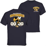 Mens GA Tech Yellow Jackets vs. Georgia Bulldogs Navy Blue 2014 Rivalry Week Score T-Shirt