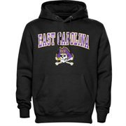 Mens Black East Carolina Pirates Arch Over Logo Hoodie