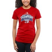 Women's Cardinal Fresno State Bulldogs 2015 Mountain West Softball Champions Slim Fit T-Shirt
