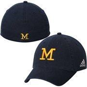 Men's adidas Navy Blue Michigan Wolverines Spring Game Flex Hat