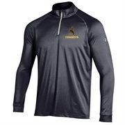 Men's Wyoming Cowboys Under Armour Black Performance Quarter-Zip T-Shirt