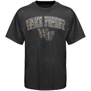 Mens Charcoal Wake Forest Demon Deacons Arch Over Logo T-Shirt