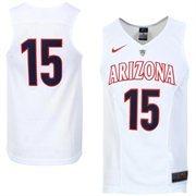 Men's Nike No. 15 White Arizona Wildcats Hyper Elite Authentic Basketball Jersey