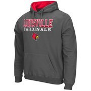 Mens Louisville Cardinals Charcoal 3 Stack II Pullover Hoodie