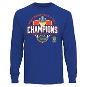 Men's Royal Blue Florida Gators 2015 Men's Indoor Track & Field Champions Long Sleeve T-Shirt