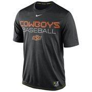 Mens Nike Black Oklahoma State Cowboys Baseball Team Issue Legend Performance T-Shirt