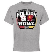 Mens Nebraska Cornhuskers vs. USC Trojans Ash 2014 National University Holiday Bowl Dueling T-Shirt