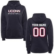 UConn Huskies Ladies Personalized Basketball Pullover Hoodie - Navy Blue