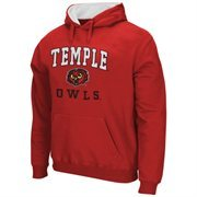 Mens Temple Owls Cherry Arch & Logo Mascot Pullover Hoodie