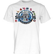 Men's White 2015 NCAA Women's Basketball Tournament Sweet 16 Group T-Shirt
