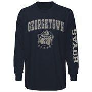 Georgetown Hoyas Big Arch & Logo Long Sleeve T-Shirt - Navy Blue