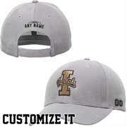 Idaho Vandals Essential Personalized Football Name & Number Adjustable Hat - Gray