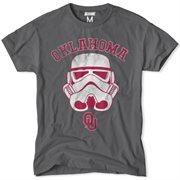 Men's Oklahoma Sooners Charcoal NCAA Star Wars T-Shirt