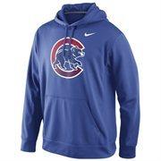 Men's Chicago Cubs Nike Royal Blue Logo Performance Hoodie