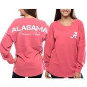 Women's Alabama Crimson Tide Pom Pom Jersey Oversized Long Sleeve T-Shirt