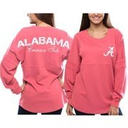 Women's Alabama Crimson Tide Pom Pom Jersey Oversized Long Sleeve T-Shirt