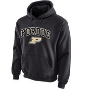 Purdue Boilermakers Midsize Arch Pullover Hoodie - Dark Gray