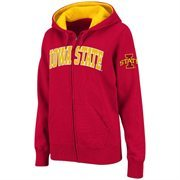 Women's Iowa State Cyclones Cardinal Classic Arch Full Zip Hooded Sweatshirt