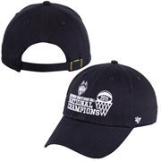 Men's '47 Brand Navy Blue UConn Huskies 2015 NCAA Women's Basketball National Champions Clean Up Adjustable Hat