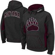 Montana Grizzlies Turf Fleece Pullover Hoodie - Charcoal/Maroon