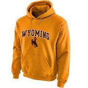 Wyoming Cowboys Midsize Arch Pullover Hoodie - Gold