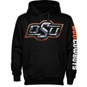 Oklahoma State Cowboys Chrome Logo Hoodie - Black