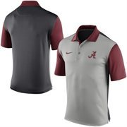 Men's Nike Gray Alabama Crimson Tide 2015 Coaches Preseason Sideline Polo