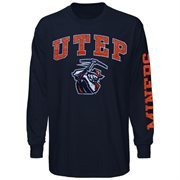 UTEP Miners Big Arch & Logo Long Sleeve T-Shirt - Navy Blue