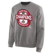 Mens Ohio State Buckeyes Steel 2015 Sugar Bowl Champions Lockout Sweatshirt