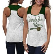 Colorado State Rams Ladies Burnout Raglan Tank Top - White