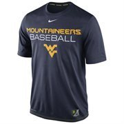 Mens Nike Navy Blue West Virginia Mountaineers Baseball Team Issue Legend Performance T-Shirt
