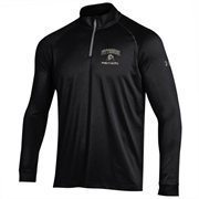 Men's Pitt Panthers Under Armour Black Performance Quarter-Zip T-Shirt