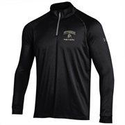 Men's Pitt Panthers Under Armour Black Performance Quarter-Zip T-Shirt