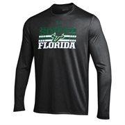 Mens South Florida Bulls Under Armour Heather Gray Slant Long Sleeve Performance T-Shirt